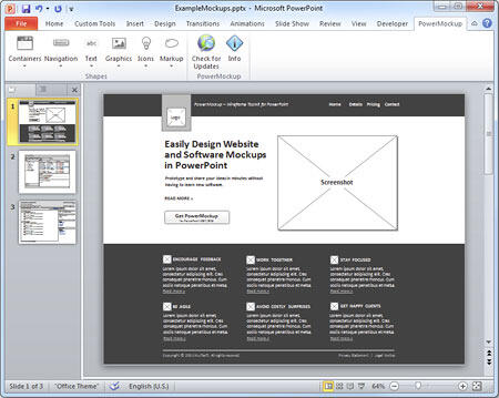 A mockup created within PowerPoint