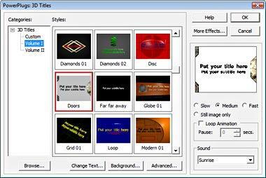 PowerPlugs: 3D Titles