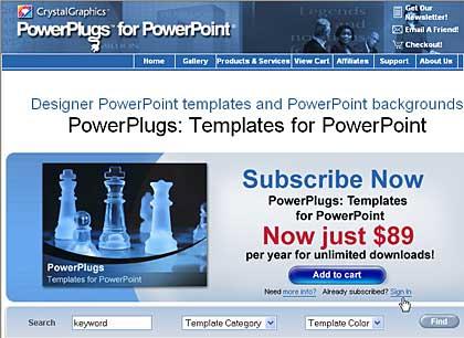 PowerPlugs: Templates page
