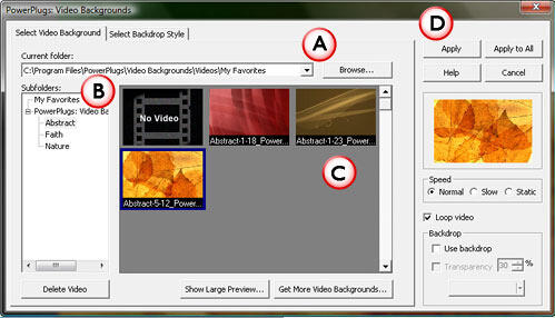 PowerPlugs: Video Backgrounds