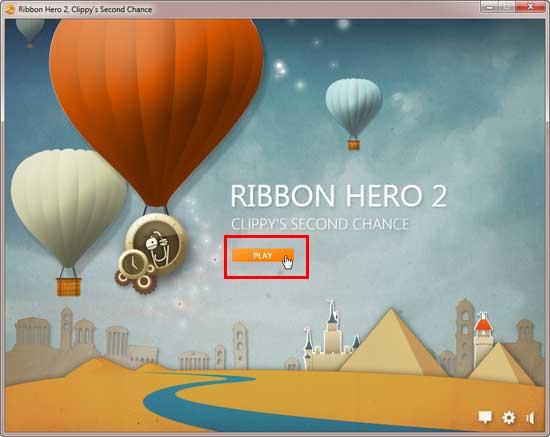 Ribbon Hero 2's Clippy's Second Chance splash screen