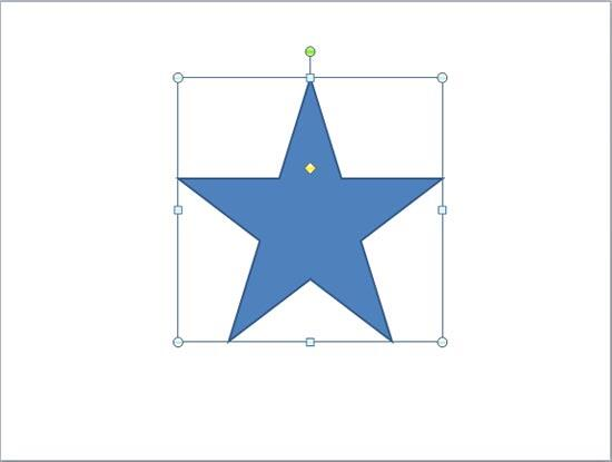 5 point Star shape selected