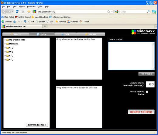 slideboxx 2.0 interface