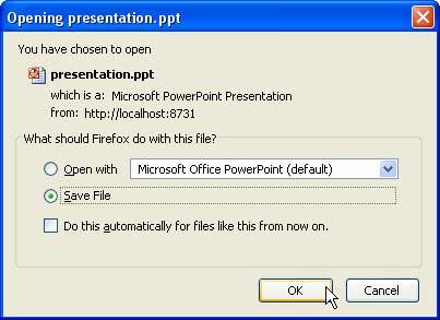 Save presentation