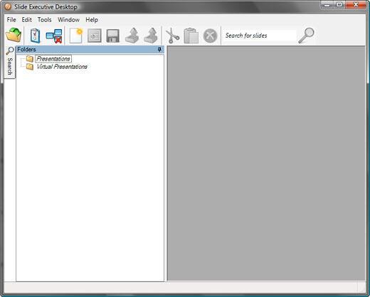 Slide Executive Desktop 2.9 interface