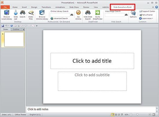 Slide Executive xPoint tab of the Ribbon