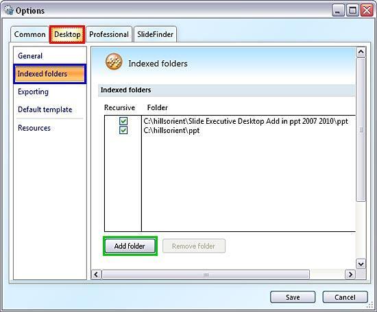 Slide Executive xPoint Options dialog box