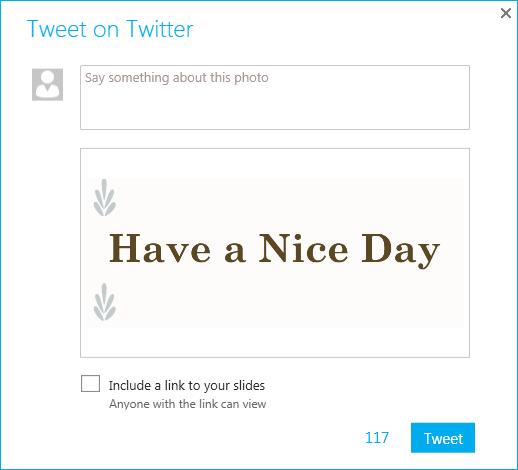 Tweet on Twitter dialog box