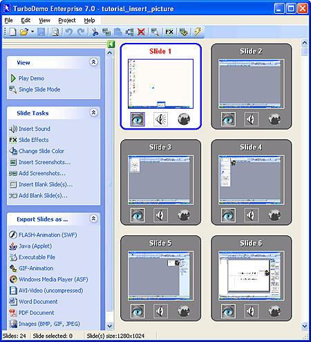 TurboDemo Interface