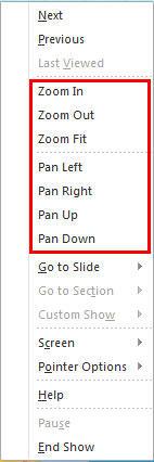ProTools Zoom menu options