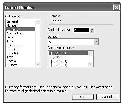 Customize the way numbers appear in this dialog box