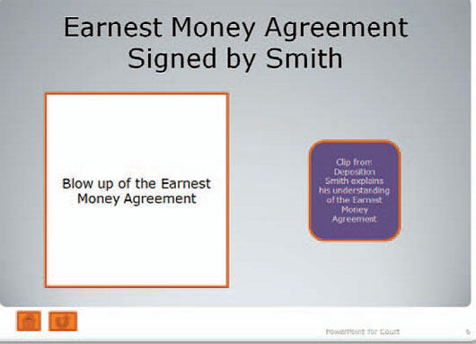 9-01-01 Smith Signs Earnest Money Agreement