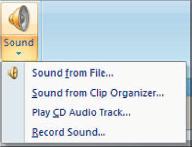 When you rollover the Sound Icon you will see some other options