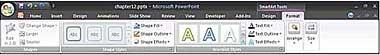 SmartArt Tools Format ribbon tab