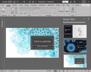 PowerPoint Designer in PowerPoint 365 for Windows