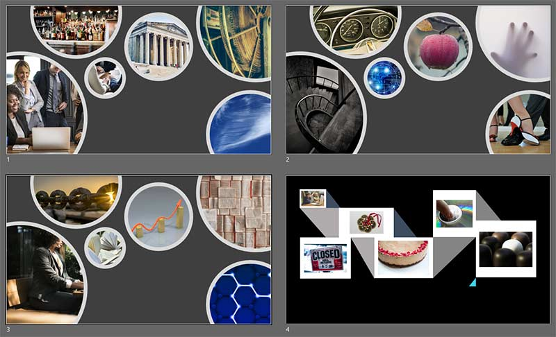 Slides with pictures created using PowerPoint Designer