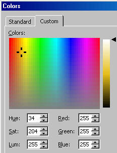 Changing Background Colours
