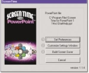 ScreenTime converts PowerPoint files into screen savers