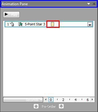 Animation Pane with animation list
