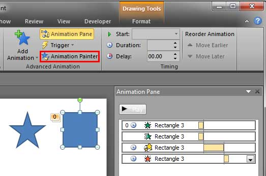 Shape applied with multiple animations selected