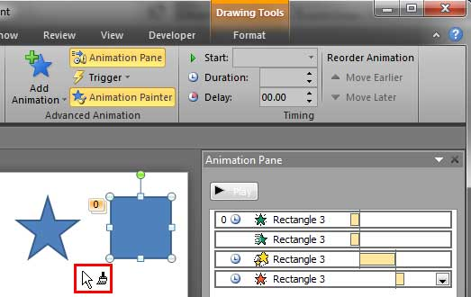 Cursor changed to a Paintbrush icon