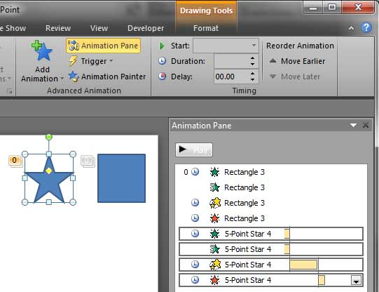 Animation attributes copied and applied to the other shape