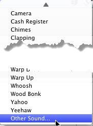 Other Sound option within the Sound drop-down list