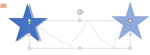 Custom Motion Path applied to a Star shape needs to be edited
