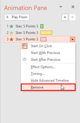 Remove option to be selected