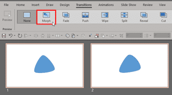 Using the Morph Transition with Curve Shapes in PowerPoint