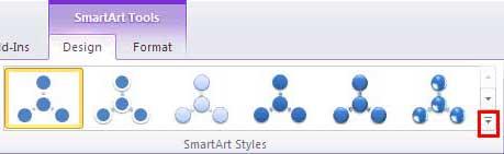 SmartArt Styles group