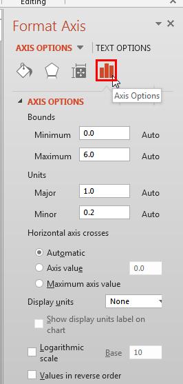 Format Axis Task Pane
