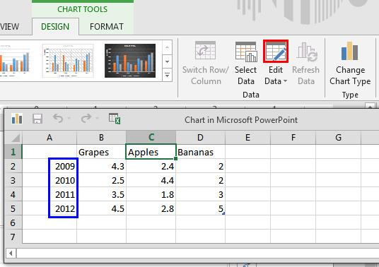 Edit Data button