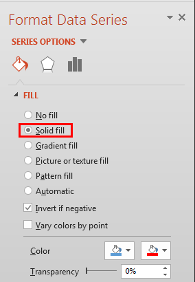 Solid fill radio button selected