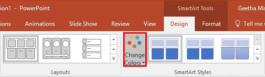 Change Colors button