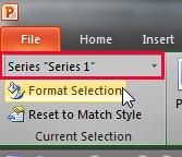 Format Selection button to be clicked with the correct data series selected