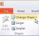 Change Shape button