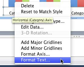 Format Text option selected