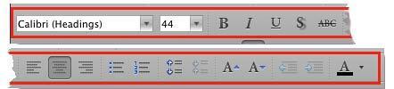 Formatting Toolbar in PowerPoint 2011