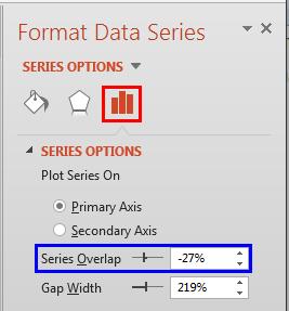 Series Overlap option within Format Data Series Task Pane