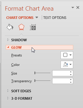 Glow Effect options