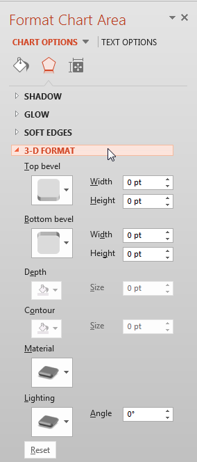 3-D Format Effect options