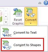 Convert SmartArt to Shapes
