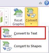 Convert SmartArt to Text