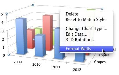 Format Walls option selected