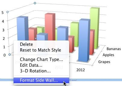 Right-click (or Ctrl+click) only the Side wall to access Format Side Wall option
