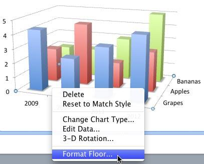 Right-click (or Ctrl+click) the Chart Floor to access the Format Floor option