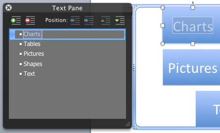 Text selected within the Text Pane