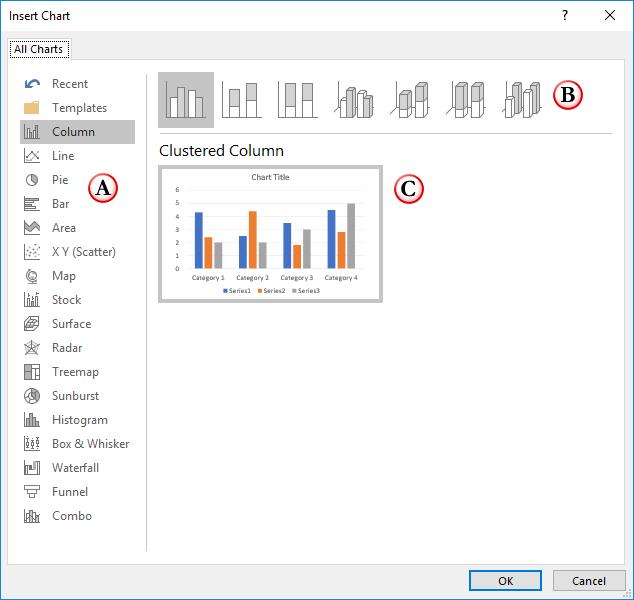 Insert Chart dialog box