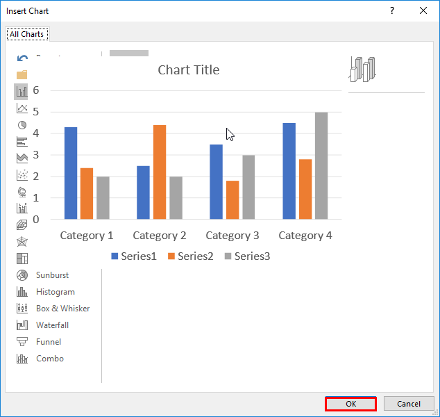 Chart preview changed to a large image